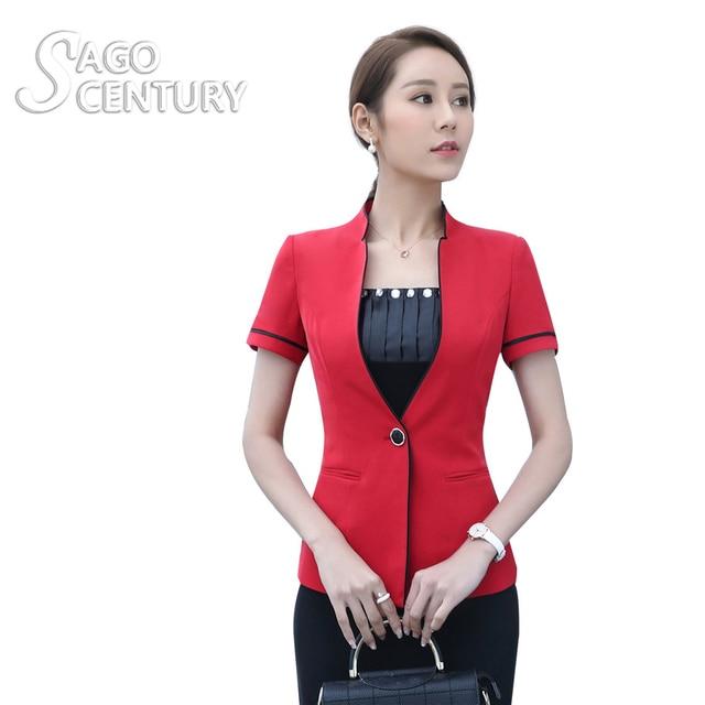 a7b54d9b4239 2017 neue Dünne Sommer Frauen Kurzarm Blazer Arbeit Büro Damen Business  Outwear Tops Formale Mantel Karriere