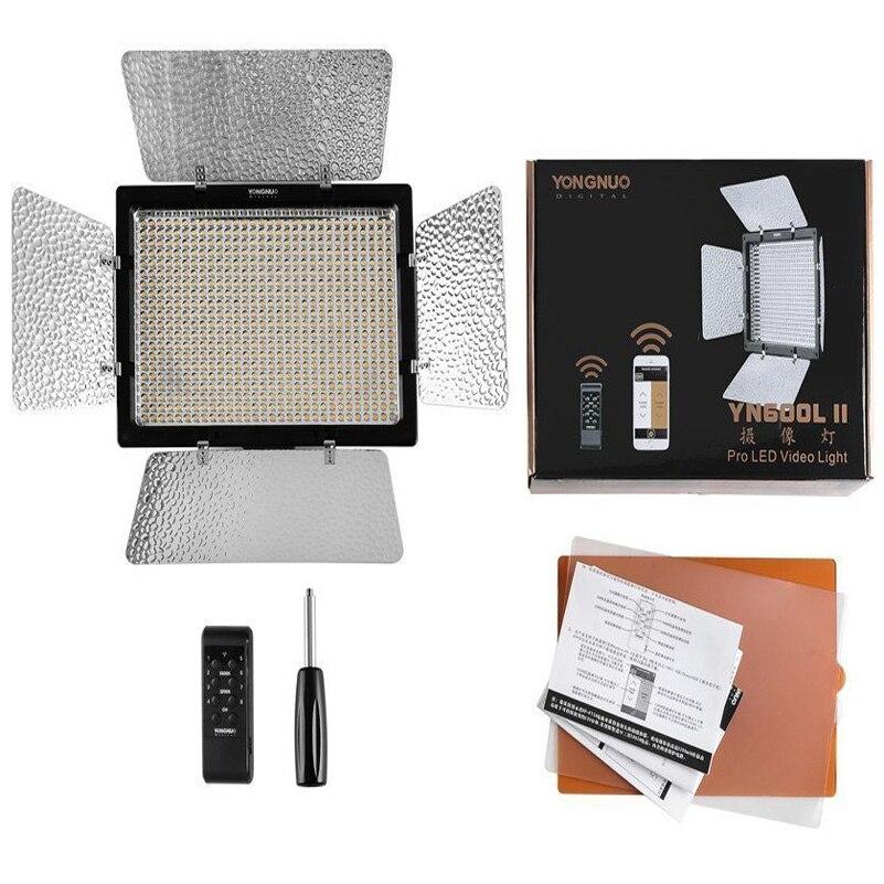 Yongnuo YN600 YN600L II LED Video Light Photo Panel Studio Support Remote Control by Phone for