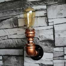 Industrial Wall Lamp Metal Waterpipe Style Wall Light E26/E27 Edison Bulb Wall Sconces Restaurant Bar Art Deco Lamparas(China)