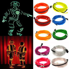 New Fashion High Quality Flexible LED Light EL Wire String Strip Rope Glow Decor Neon Lamp USB Controlle Drop Shipping(China)