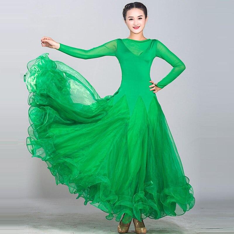 Picture of 7 Colors Blue Waltz Dress Rumba Standard Smooth Dance Dresses Standard Social Dress Ballroom Dance Competition Dress Fringe