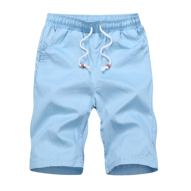 Varsanol Casual Men's Shorts New 2018 Cotton Shorts For Men Summer Breathable Elastic Waist Shorts Male Black Khaki 5colors 508