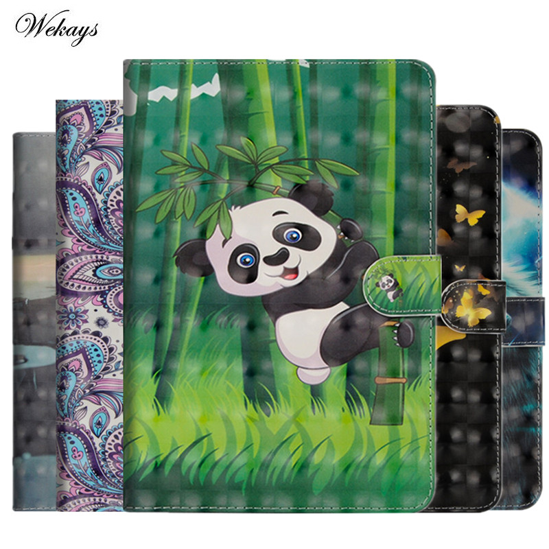 Case Cover for iPad Air 2 3D Cartoon PU Leather Magentic Smart Cover Soft TPU Back
