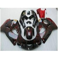 Обтекатель комплект, пригодный для Suzuki srad GSXR 600 GSXR 750 1996 2000 Красный Пламя в черные обтекатели комплект 96 97 00 PL 6