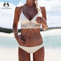 2016 Summer Style Women Sexy Bikini Set Push Up Swimsuit Fringe Bikini Beach Swimwear Women Bathing