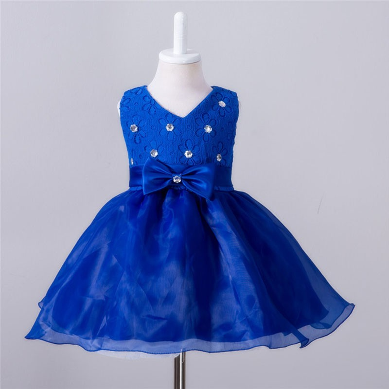 Baby Christening Bow Dress (9)
