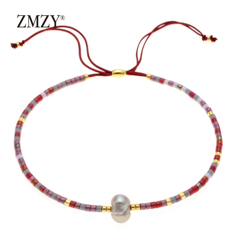 ZMZY Miyuki Delica, бисер, женские браслеты, ювелирные изделия дружбы, модные, сделай сам, Bijoux Femme, простые браслеты, Прямая поставка - Окраска металла: QSSL003-19
