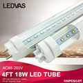 LEDVAS T8 Led tube light 1200mm 18W 1800lm SMD2835 4ft 1.2m AC85V-265V white/warmwhite Factory outlets CE RoHS 100pcs/lot