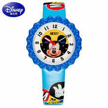 Mickey Minnie mouse children lovely water resistant watch Boys girls fashion casual Kids leather steel watches Hapiness 2017 new