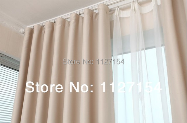 Free shipping high quality elegant beige finished curtain for Dormitorio beige