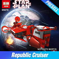 Lepin 05070 963 Unids Nueva Serie Star La República Crucero Conjunto Niños Educativos Bloques de Construcción Ladrillos Juguetes Modelo de Regalo 7665