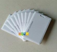 100 pçs/lote EM4100 125 Khz RFID cartões clamshell LOS cartão de IDENTIFICAÇÃO de espessura