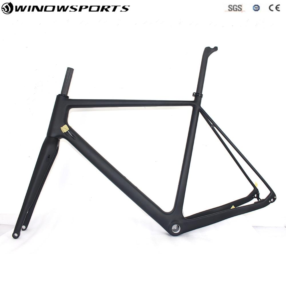 Ghiaia di carbonio telaio della bici super leggero telaio della bici Thru axle 142*12 disco freno Ciclocross Ghiaia Struttura Della Bicicletta del Carbonio