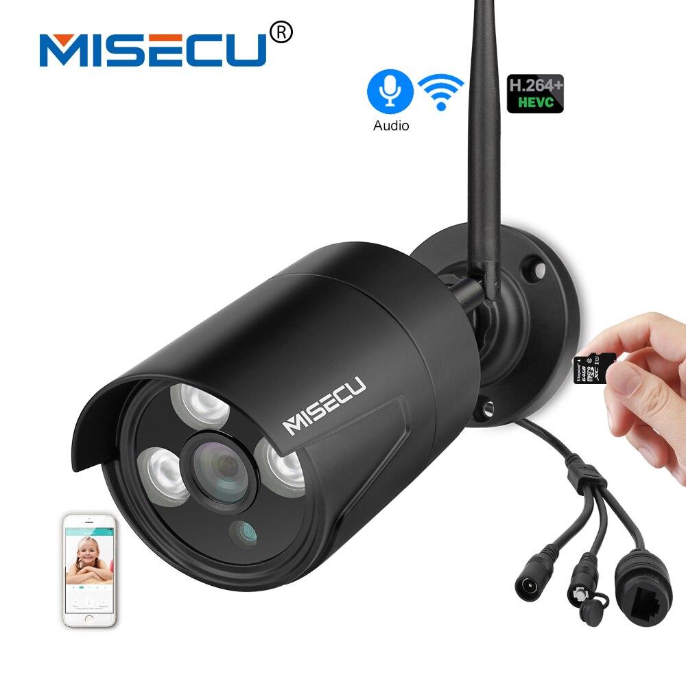MISECU H.264 + Wifi 2.0MP IP Audio caméra avec 64 GB SD slot 1920*1080 P 720 P Onvif P2P Sans Fil push e-mail Nuit Tableau IP Extérieure