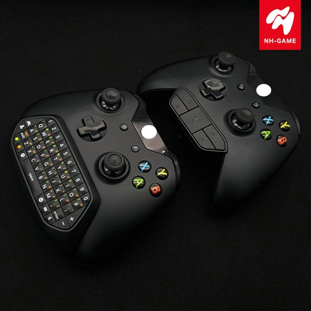 Mini Wireless Message  Keyboard Chatpad USB Keypad + Headset Adapter For XBOX ONE/ S / X  Controller