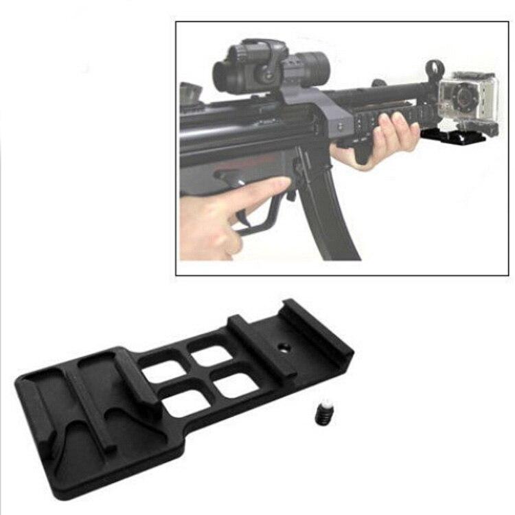 GoPro Aluminium Picatinny Weaver Gun Rail Mount Sale Leopard Side Rail Mount pour Go Pro HD HERO 4 3 + 3 2 1 Caméra Accessoires