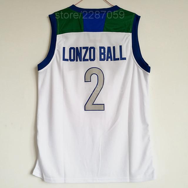 13aa8ab310d Ediwallen High School 2 Lonzo Ball Jersey Men White Basketball Chino Hills  Huskies Jerseys All Stitched Color Good Quality