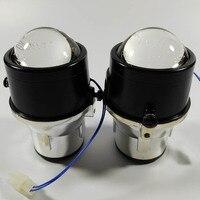 Front bumper headlights optical bifocal lens sport fog lights lamp holder house for Fiat 500l panda Punto evo External Lights