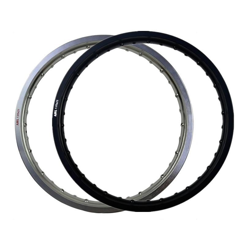 6061 Black White Motorcycle Rim Aviation Aluminum Front Wheel Circle 1 85x21 36 Spoke Hole 185