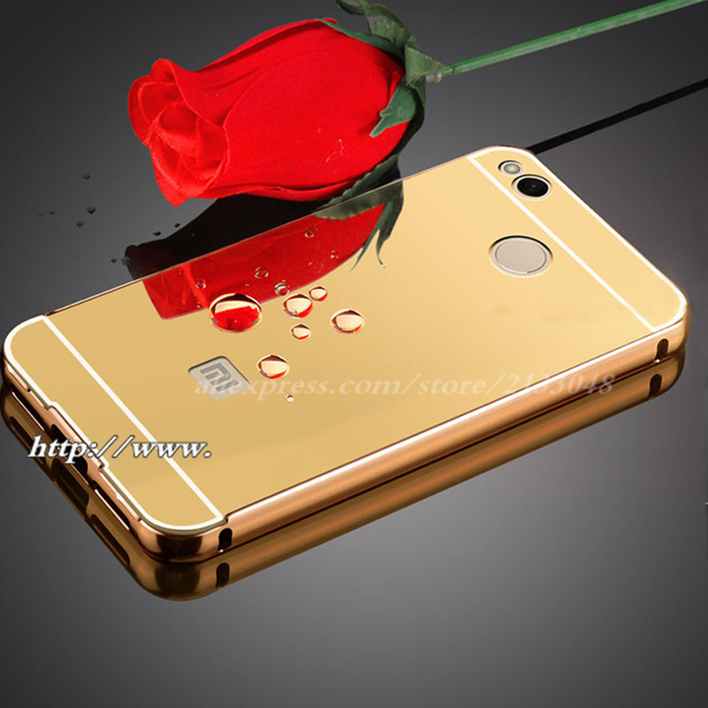 cheap for discount a0187 f05a3 US $3.03 |Fashion Luxury Rose Gold Mirror Case for Xiaomi Redmi 4X shell  Back Cover Case For Cover Redmi 4 X Aluminum+ Acrylic -in Half-wrapped  Cases ...