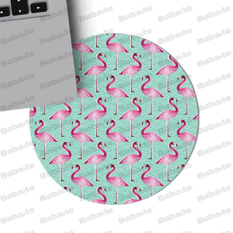 Babaite ใหม่ออกแบบ Flamingo สัตว์ gamer เล่น mats Mousepad ขนาด 20*20 ซม. 22*22 ซม. mousepad ยางสี่เหลี่ยมผืนผ้า Mousemats