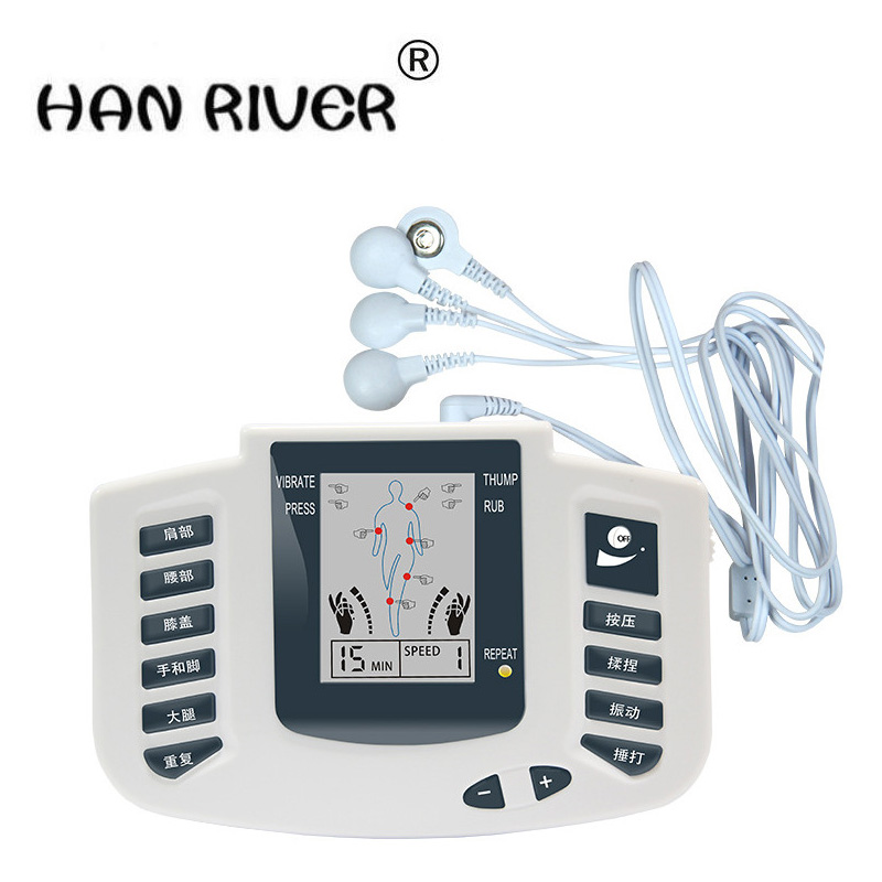 JR - 309 digital meridian massage with slippers intermediate frequency domain massager + 4 electrode pads
