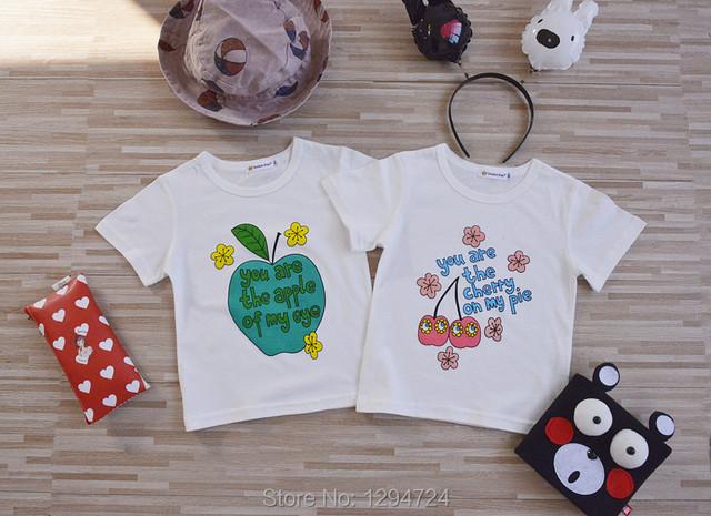 2017 Primavera verano niños suecia estilos algodón niñas niños manga corta camisetas niños niñas ropa vetement enfant NIÑOS TOPS