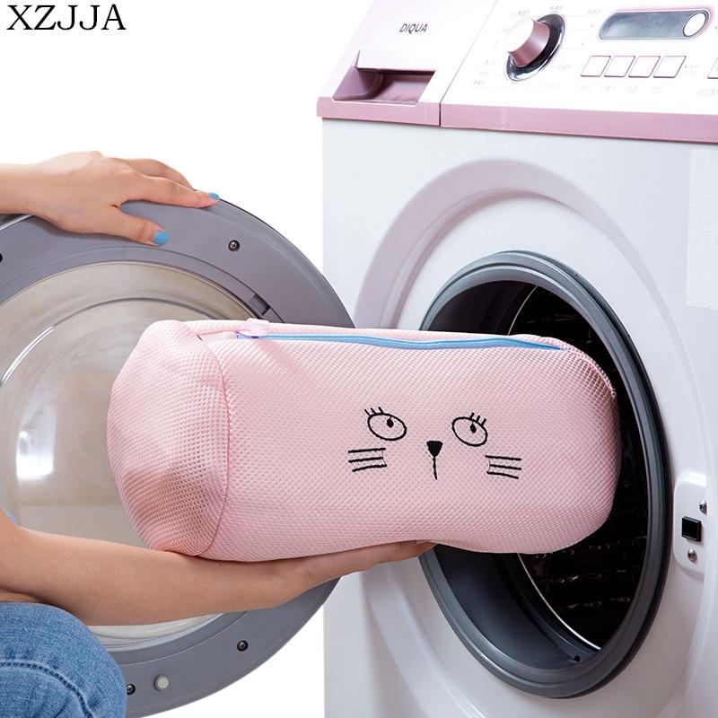 XZJJA Creative Cartoon Laundry Bags Bra Underwear Baskets Mesh Bag Laundry Washing Care Pouch Household Cleaning Kits