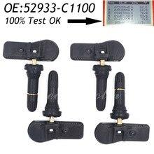 4 шт. оригинальный шина Давление мониторинга Сенсор 52933-C1100 52933-c1100 TPMS для Hyundai Sonata Tucson I20 (ГБ/ib) ix35 (tl) 433 мГц