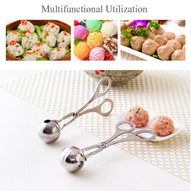 Fantastic Kitchen Meatball Maker Stainless Steel Meat & Poultry Tools DIY Fish Meat Ball Maker Meatball Mold Tools 4