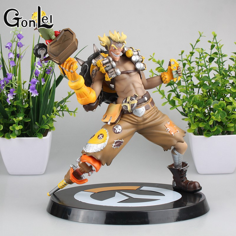 GonLeI OW Junkrat Game Model Toys for Animation Game Collection Miniature Figurine 23cm Big Action Figure