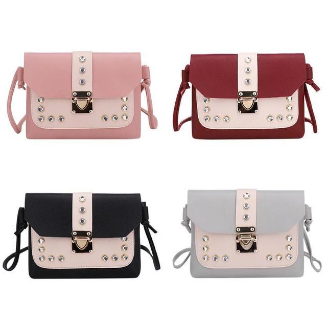 Color Panelled Mini Women Shoulder Bags  1