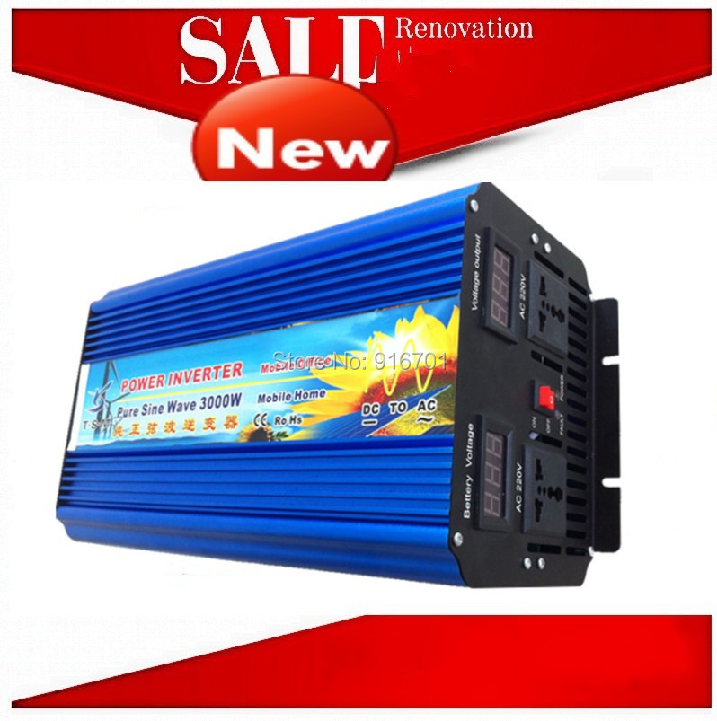 inverseur de panneau solaire solar panel inverter 3000W Pure Sine Wave Power Inversor DC 12V TO AC 220V (6000W peak power) inversor senoidal 3000w 6000w peak 3000w pure sine wave power inverter 12v dc input 220 240v ac output 50hz for power tools
