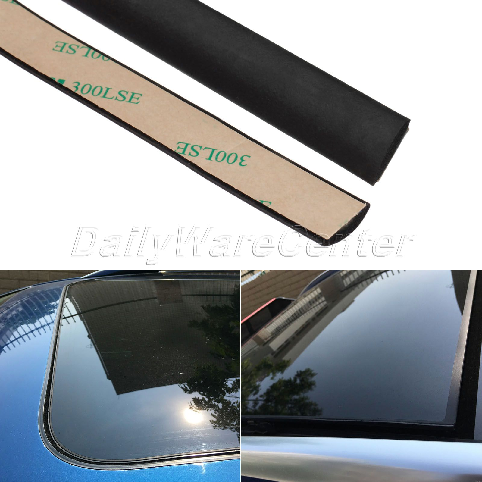 5 Meter Waterproof Rubber Sealing Strips Trim For Auto Car Front Rear Windshield Sunroof Triangular Window Edge Weatherstrip