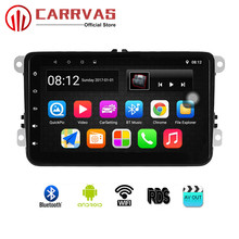 CARRVAS 8 inch Car Player Android 8.1 GPS Navigation 2G+32G Car Stereo with RDS Bluetooth Wifi Steering Wheel Control For Passat цена
