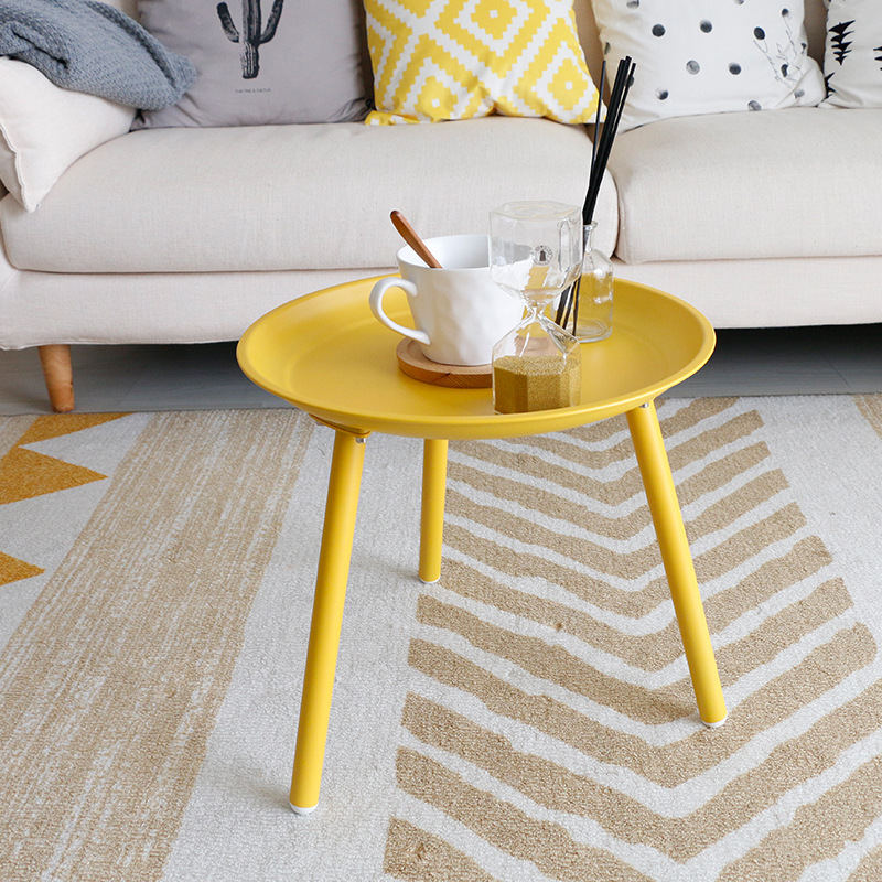 Simple Small-sized End Table Living Room Sofa Side Nordic Wrought Iron Coffee Table Creative Small Round Wholesale 35*38cm