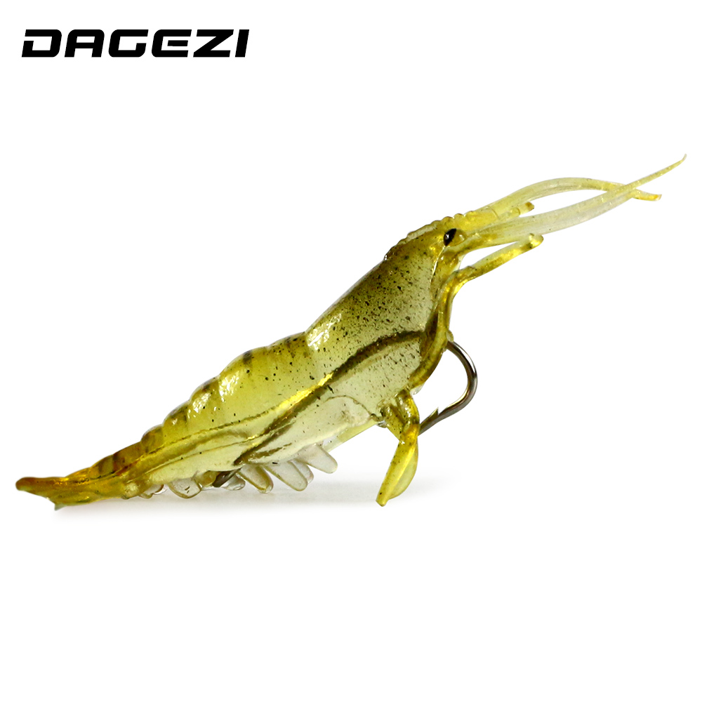 Dagezi soft artificial shrimp baits 50pcs 50pcs soft for Salmon fishing lures