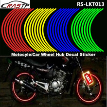 RASTP-16 Strips Car Styling Reflective Motorcycle Bike Wheel Stickers Rim for 18Motorcycle Auto  RS-LKT013