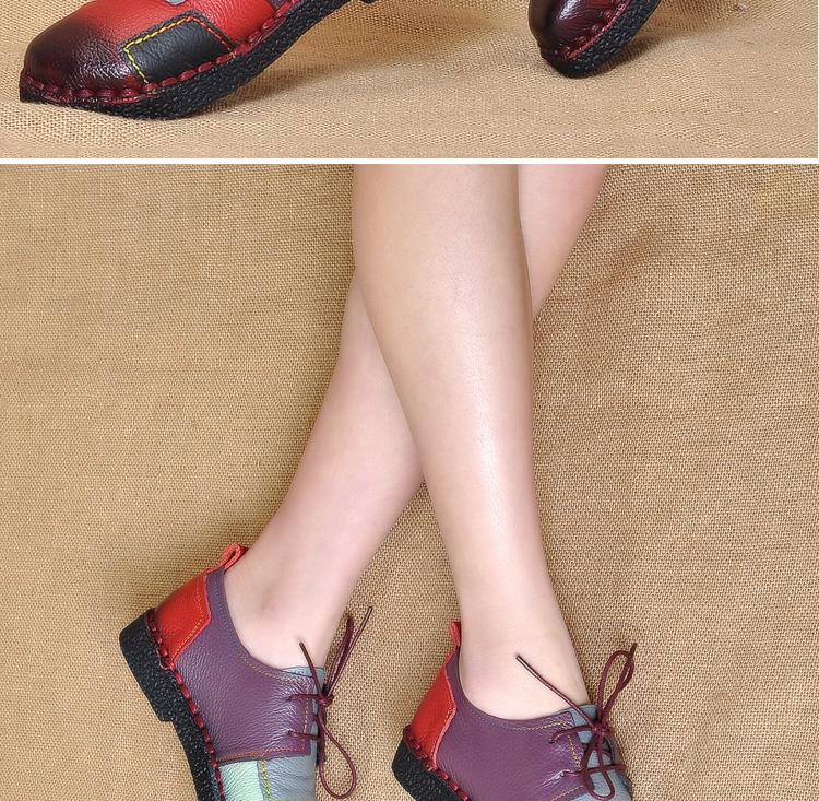 HTB1fkA9RpXXXXXIXpXXq6xXFXXXy - Women's Handmade Genuine Leather Flat Lace Shoes-Women's Handmade Genuine Leather Flat Lace Shoes