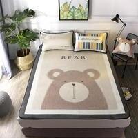 2019 High Quality Bed Sheet Ice Silk Mat Mattress Cover Size 120*200/150*200 Cm Summer Cool Bed Sheet Fitted Sheet