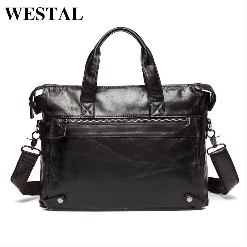 WESTAL Genuine Leather bag Business s