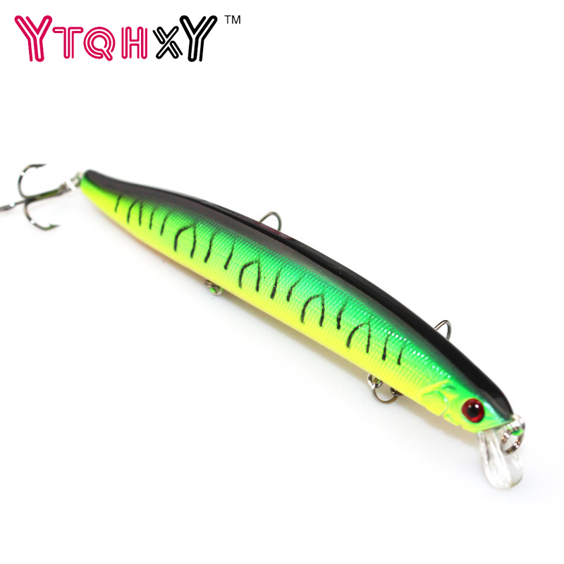 1Pcs 13.8cm 19g Floating Minnow Fishing Lure 6# Fish Wobbler Tackle Crankbait Artificial Japan Hard Bait Swim bait YE-256 wldslure 1pc 54g minnow sea fishing crankbait bass hard bait tuna lures wobbler trolling lure treble hook