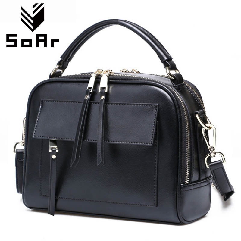 SoAr Genuine Leather Shoulder Bag Women With Pockets Designer Handbags High Quality Zipper Messenger Bags Women Bag 2017 Brand chispaulo women bags brand 2017 designer handbags high quality cowhide women s genuine leather handbags women messenger bag t235