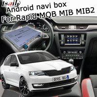 Android GPS navigation box for Skoda Rapid MQB MIB MIB2 system 6.5 8 9.2 video interface box with youtube by Lsailt