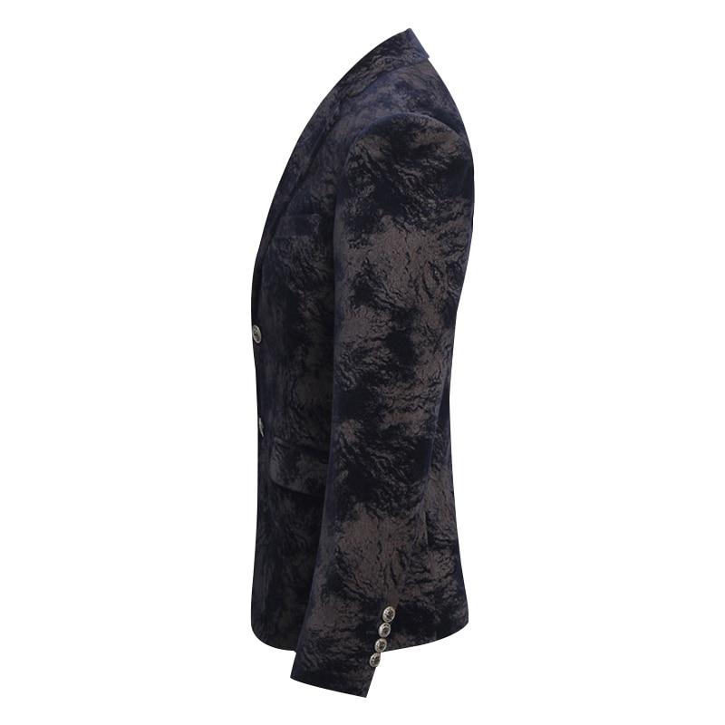 2018 новый стиль, утолщенные пальто с камуфляжным принтом, мужские модные блейзеры, мужская куртка, Мужской однобортный повседневный деловой ... - 3