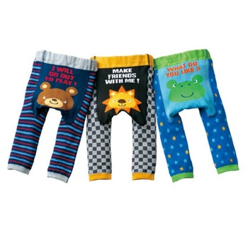 Baby's Animal Printed Cotton Pants 5