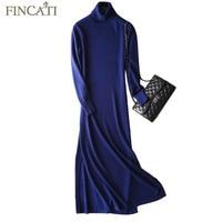 Long Maxi Dress Women 2018 Autumn Winter England Style High Grade 100 Cashmere Knitted Fluffy Cozy