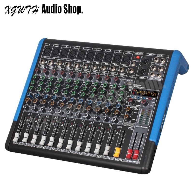 Professionelle Audiogeräte Vornehm 12 Kanal Audio Bluetooth Mixer Professionelle Mikrofon Sound Mischpult Serie Mit 48 V Phantom Power Usb Mp3 Strukturelle Behinderungen Tragbares Audio & Video
