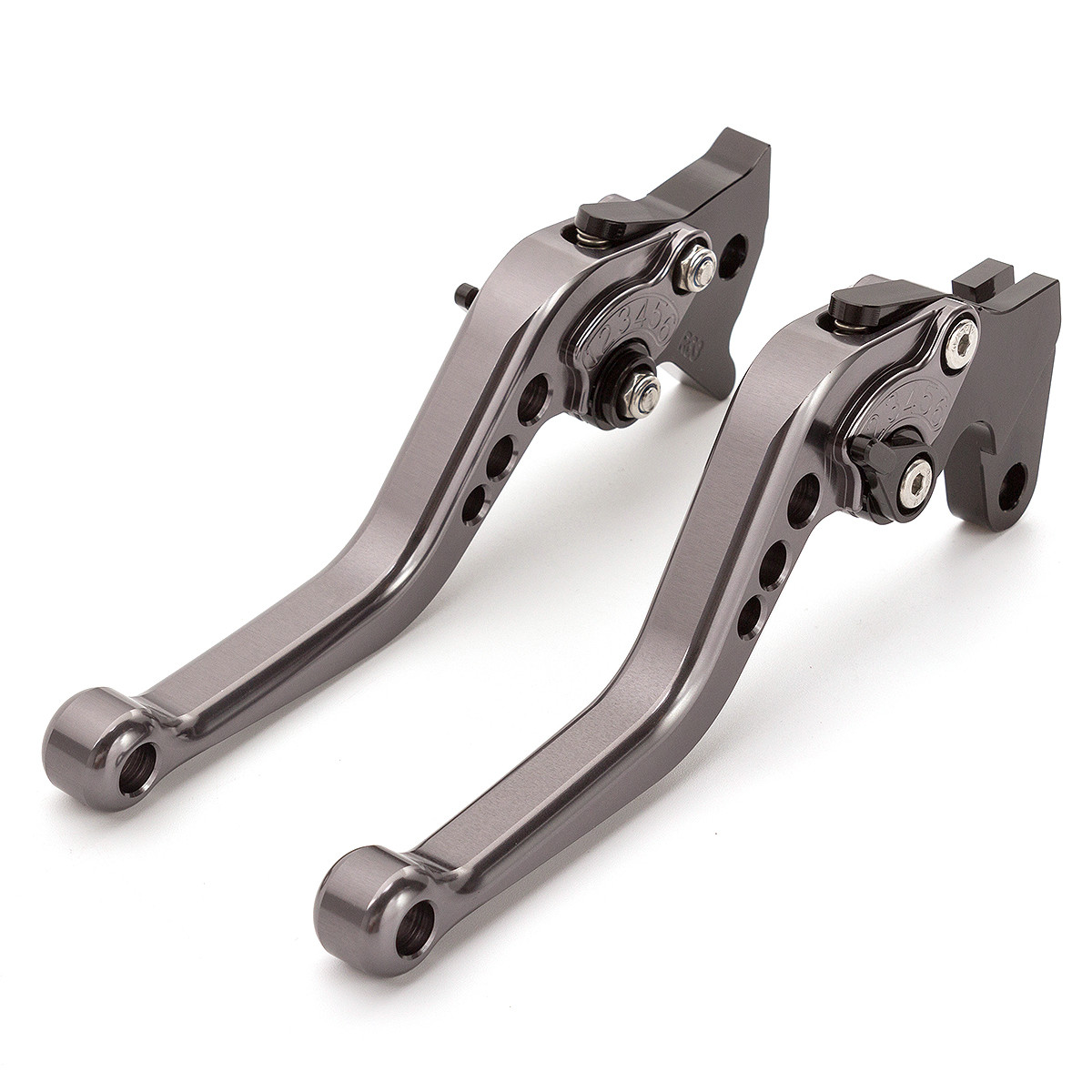 For <font><b>YAMAHA</b></font> <font><b>FZ6</b></font> NS 2005 <font><b>2006</b></font> Gray CNC Aluminum Adjustable Brake Clutch Lever For <font><b>YAMAHA</b></font> <font><b>FZ6</b></font> NA 2007-2009 <font><b>FZ6</b></font> N 2004-2009 image