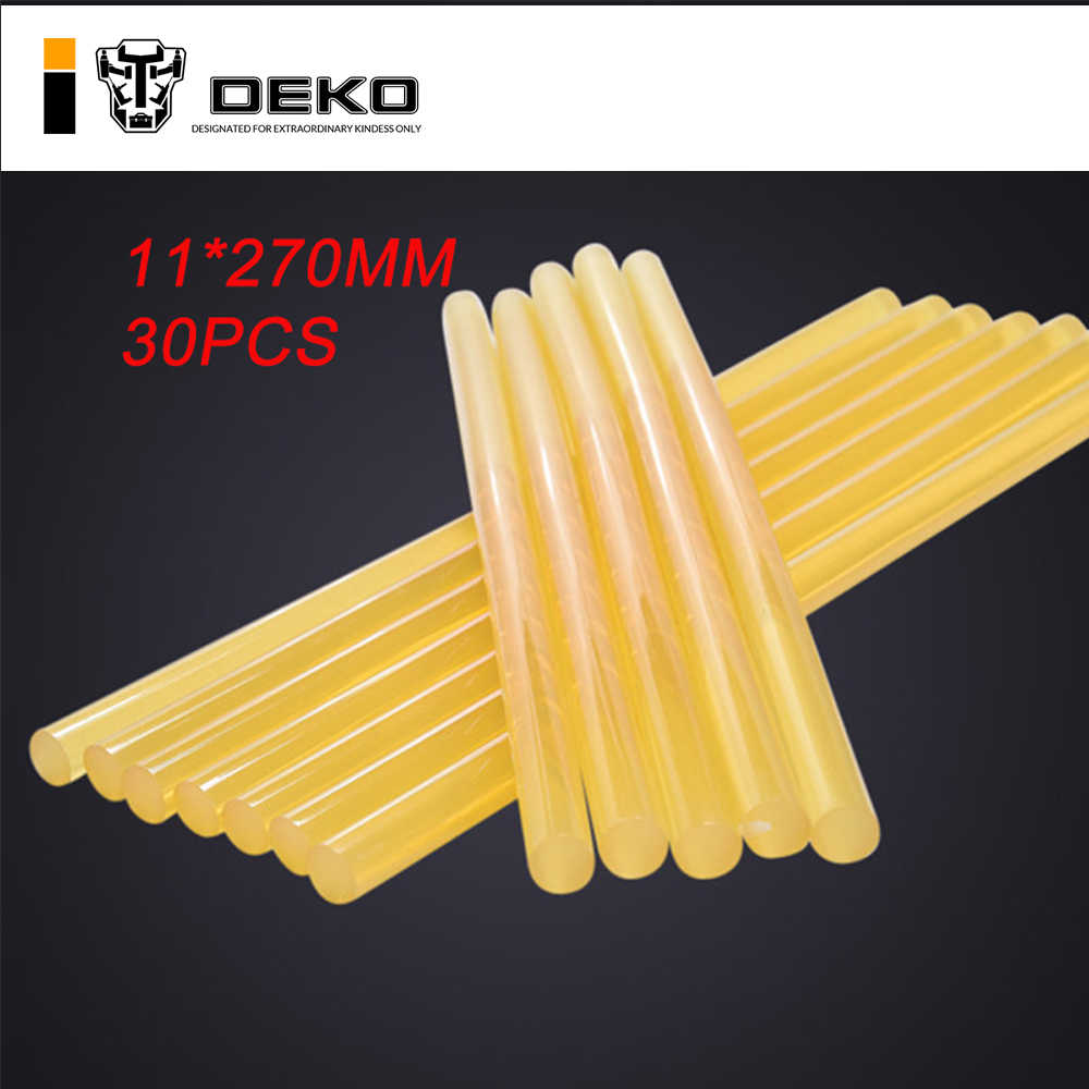DEKO 30pcs Diameter 11mmYellow high viscosity Hot Melt Glue Stick Professional Length 270mm DIY Glue Gun Sticks Paste Tools